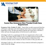 Fannie Mae Announces New Trended Credit Data Requirement